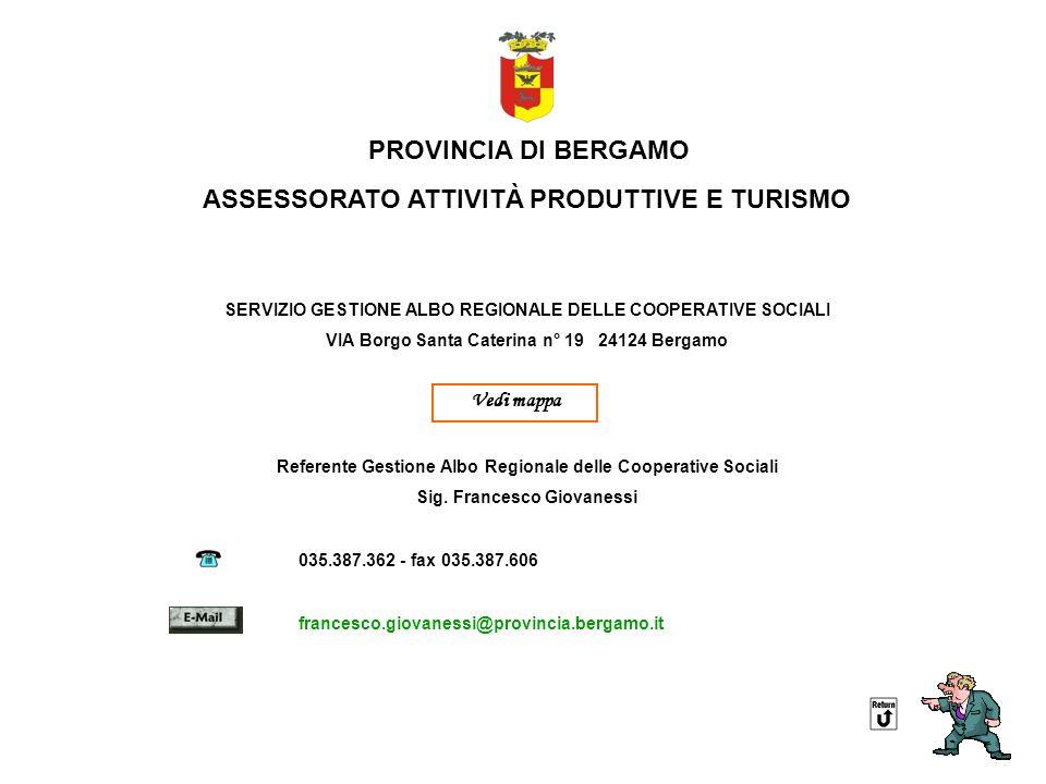 ASSESSORATO ATTIVITÀ PRODUTTIVE E TURISMO