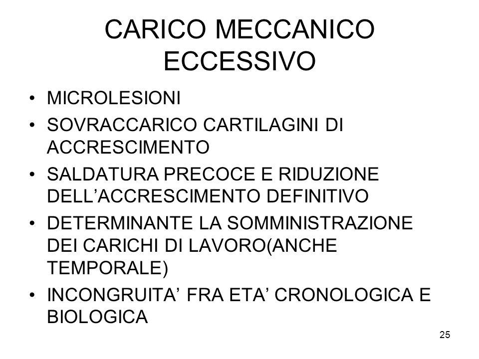 CARICO MECCANICO ECCESSIVO