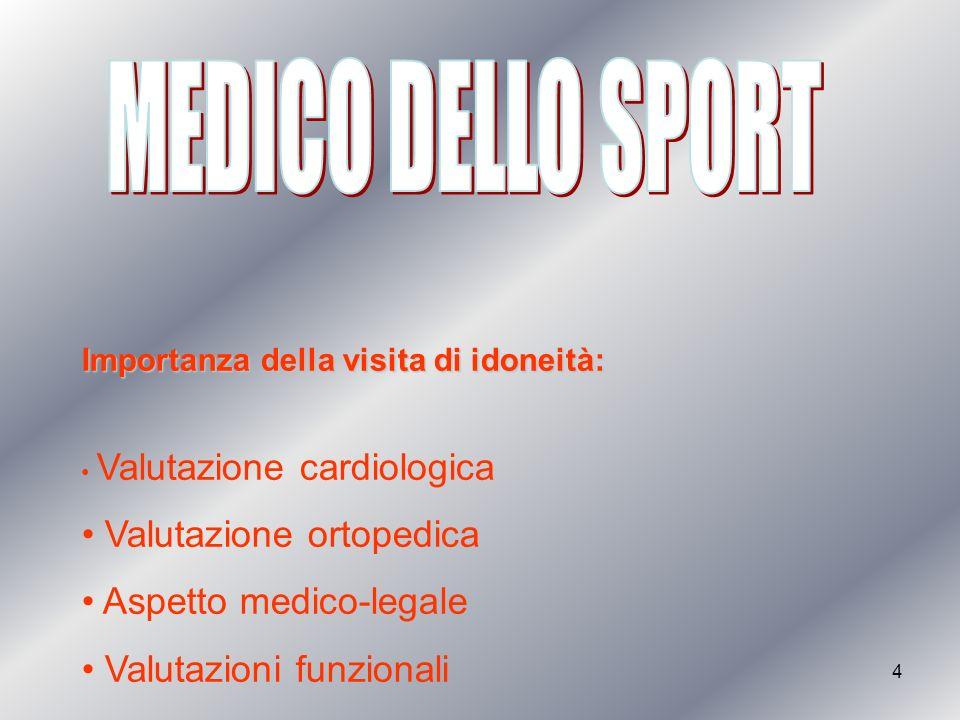 MEDICO DELLO SPORT Valutazione ortopedica Aspetto medico-legale
