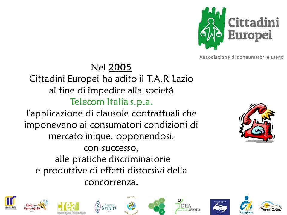 Cittadini Europei ha adito il T.A.R Lazio