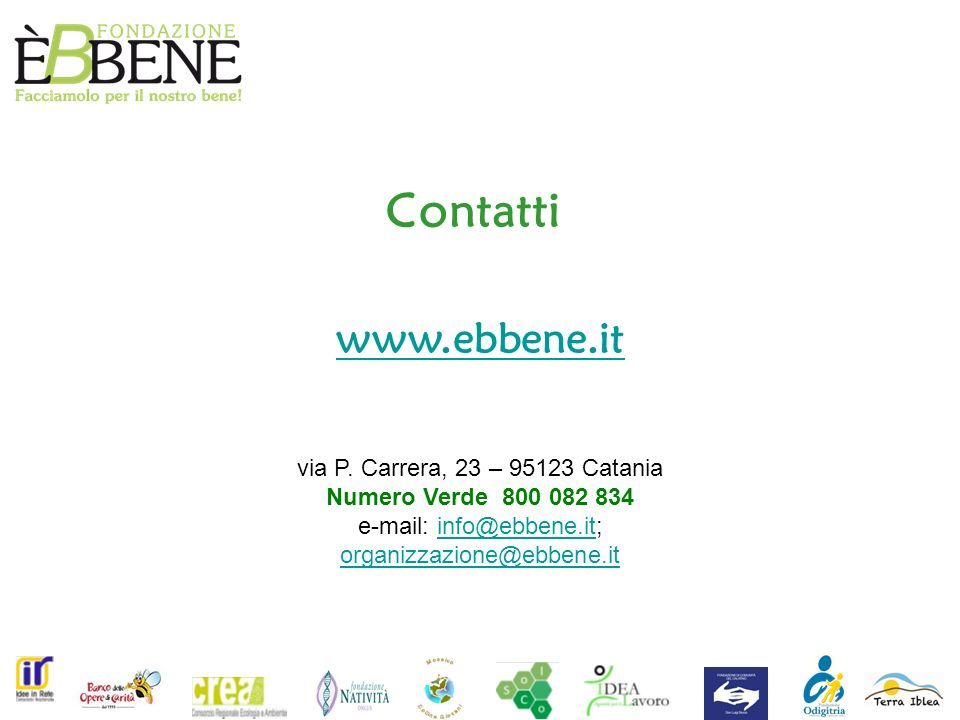 e-mail: info@ebbene.it;