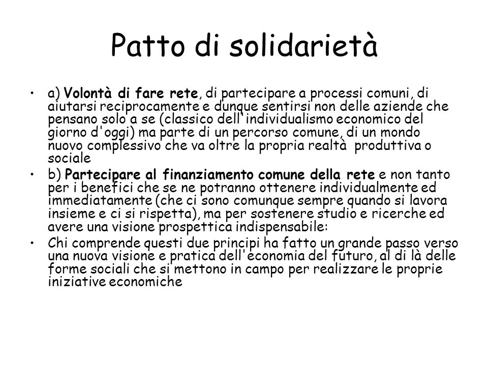 Patto di solidarietà