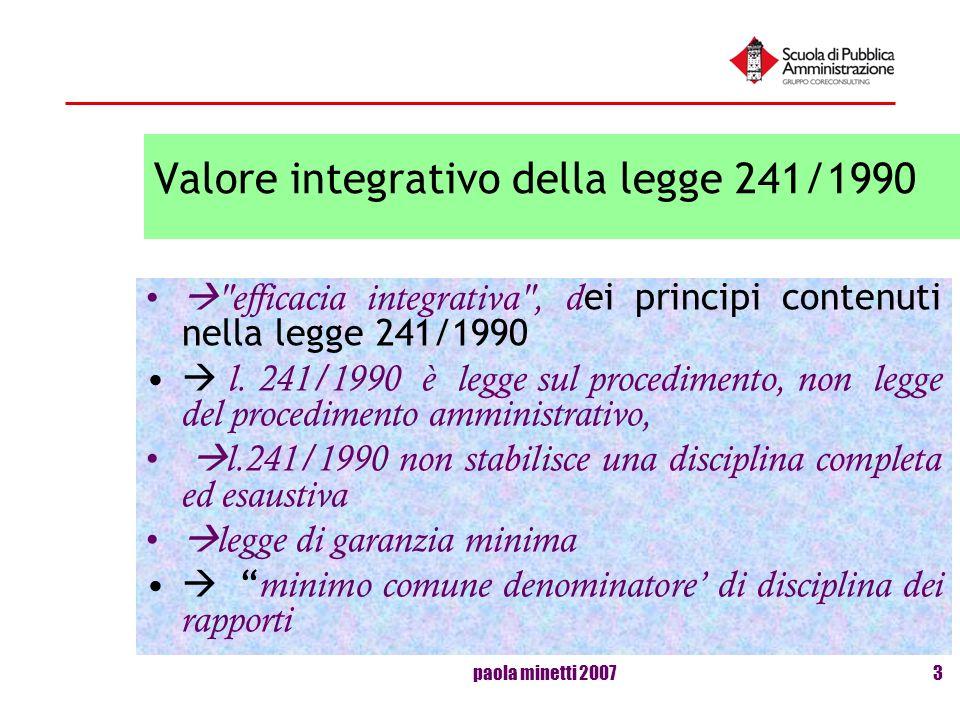 Valore integrativo della legge 241/1990