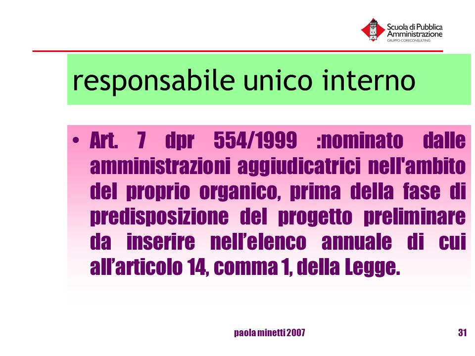 responsabile unico interno