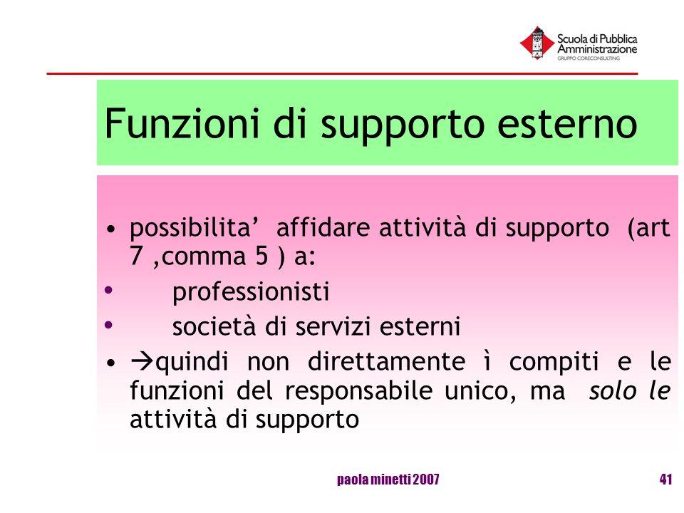 Funzioni di supporto esterno