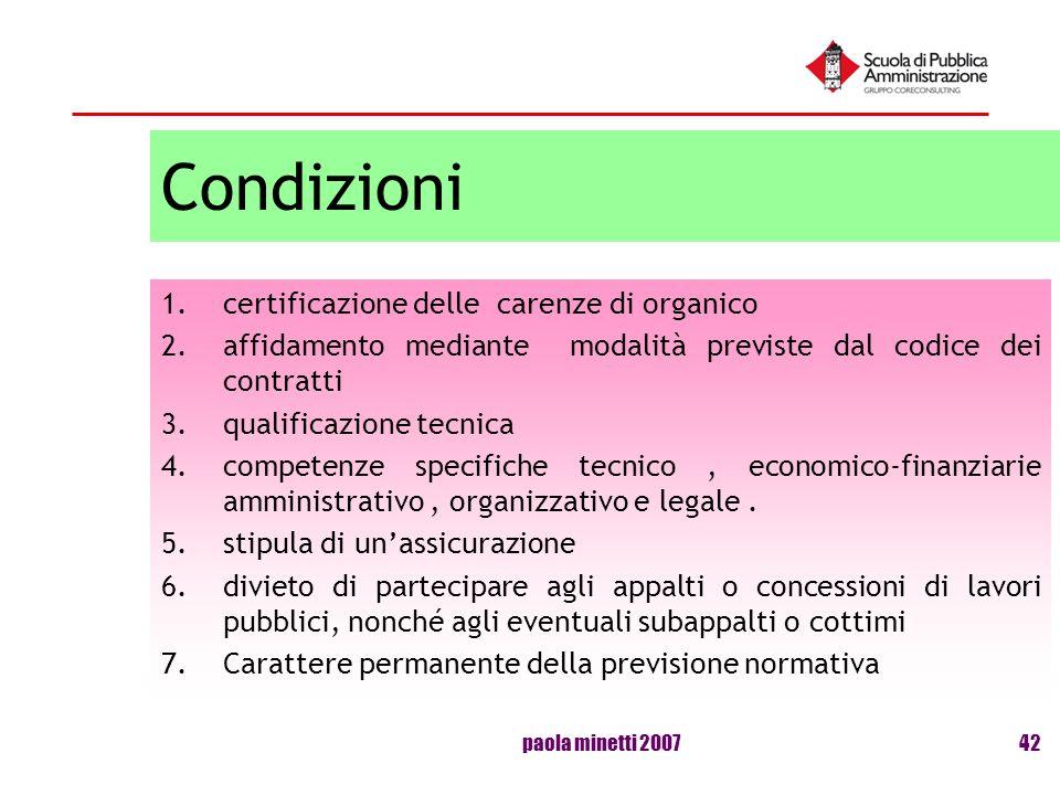 Condizioni certificazione delle carenze di organico