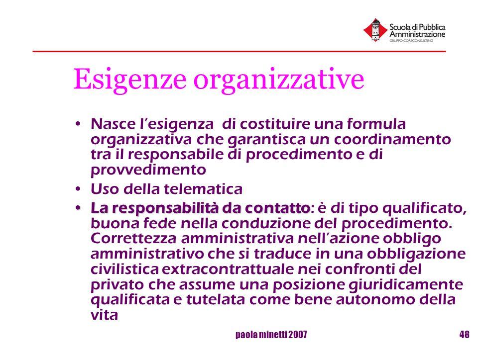 Esigenze organizzative