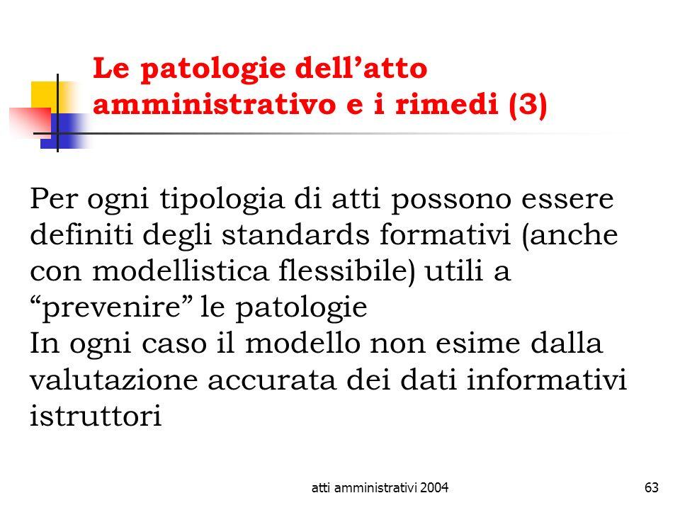 Le patologie dell'atto amministrativo e i rimedi (3)