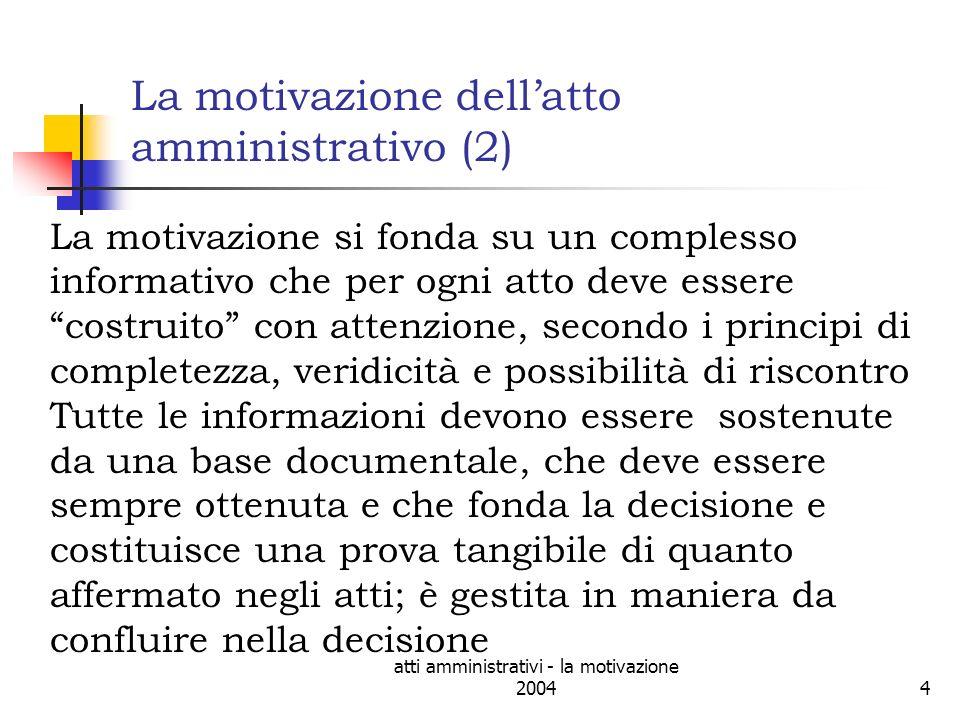 La motivazione dell'atto amministrativo (2)