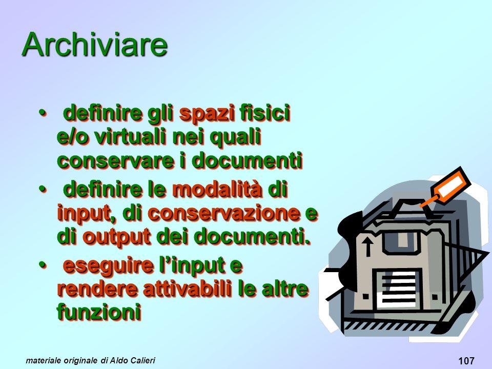 Archiviare definire gli spazi fisici e/o virtuali nei quali conservare i documenti.
