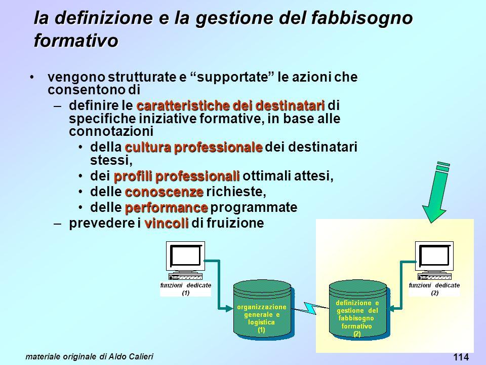 la definizione e la gestione del fabbisogno formativo
