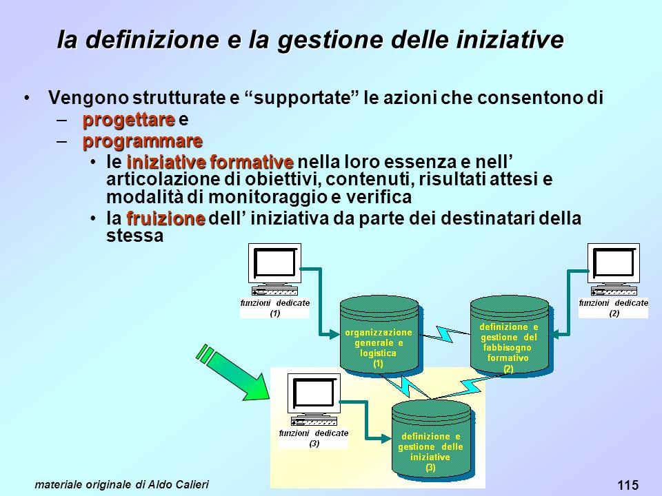 la definizione e la gestione delle iniziative