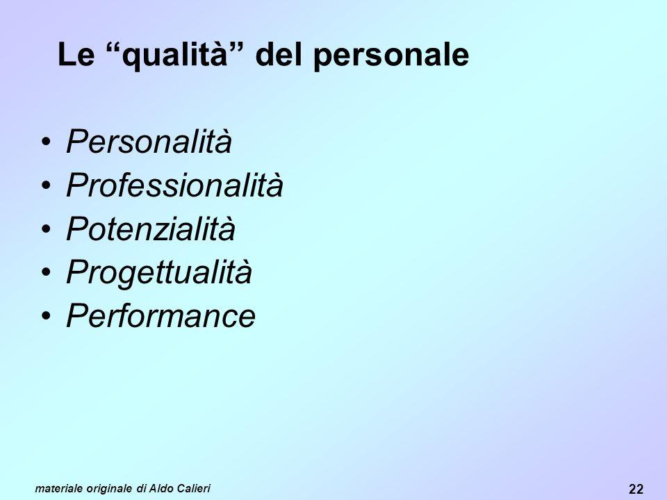 Le qualità del personale