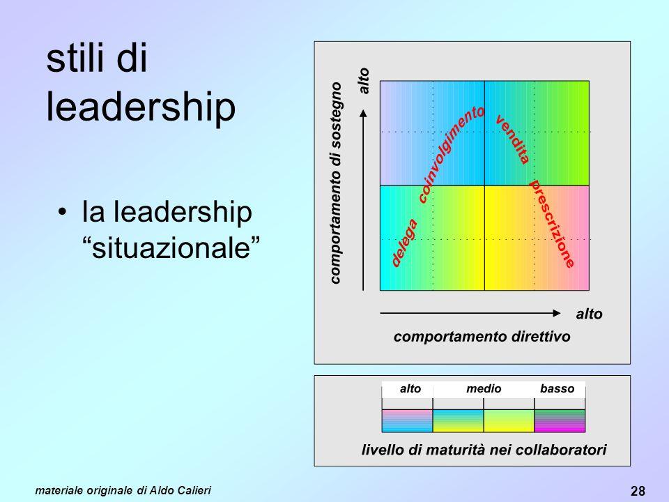 stili di leadership la leadership situazionale