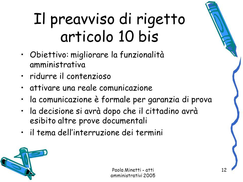 Il preavviso di rigetto articolo 10 bis
