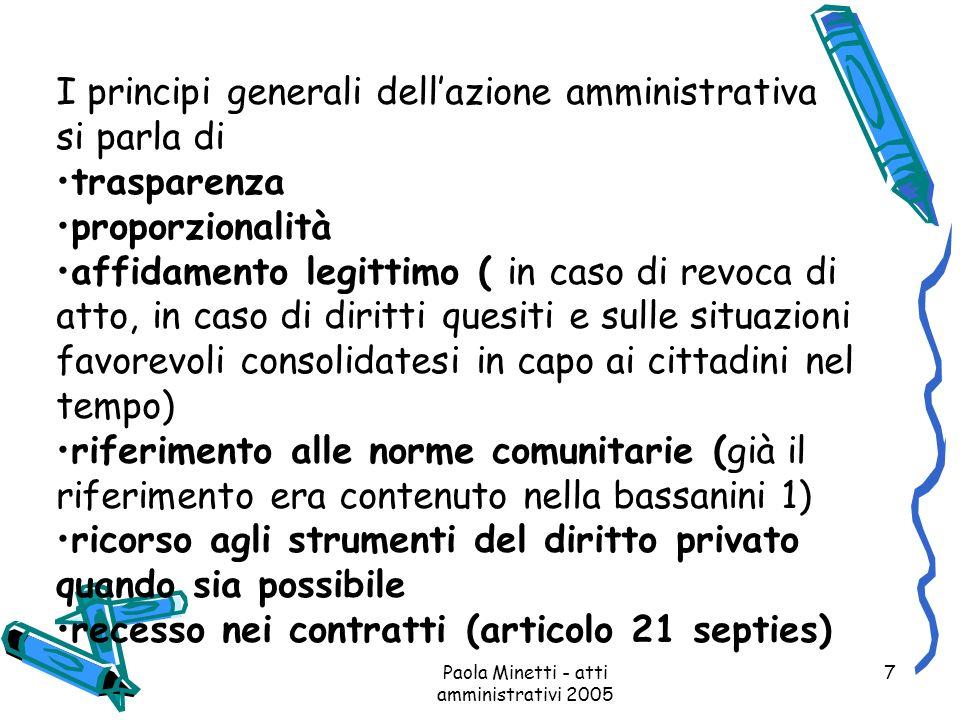 Paola Minetti - atti amministrativi 2005