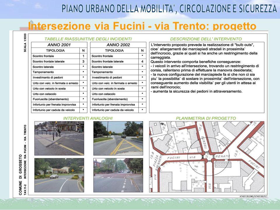 Intersezione via Fucini - via Trento: progetto