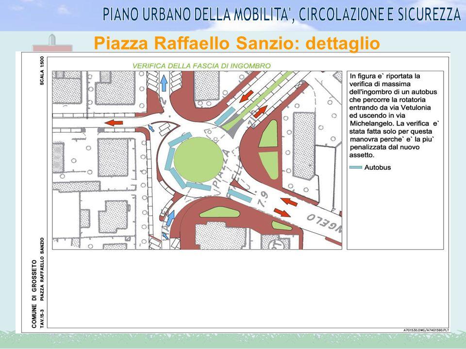 Piazza Raffaello Sanzio: dettaglio