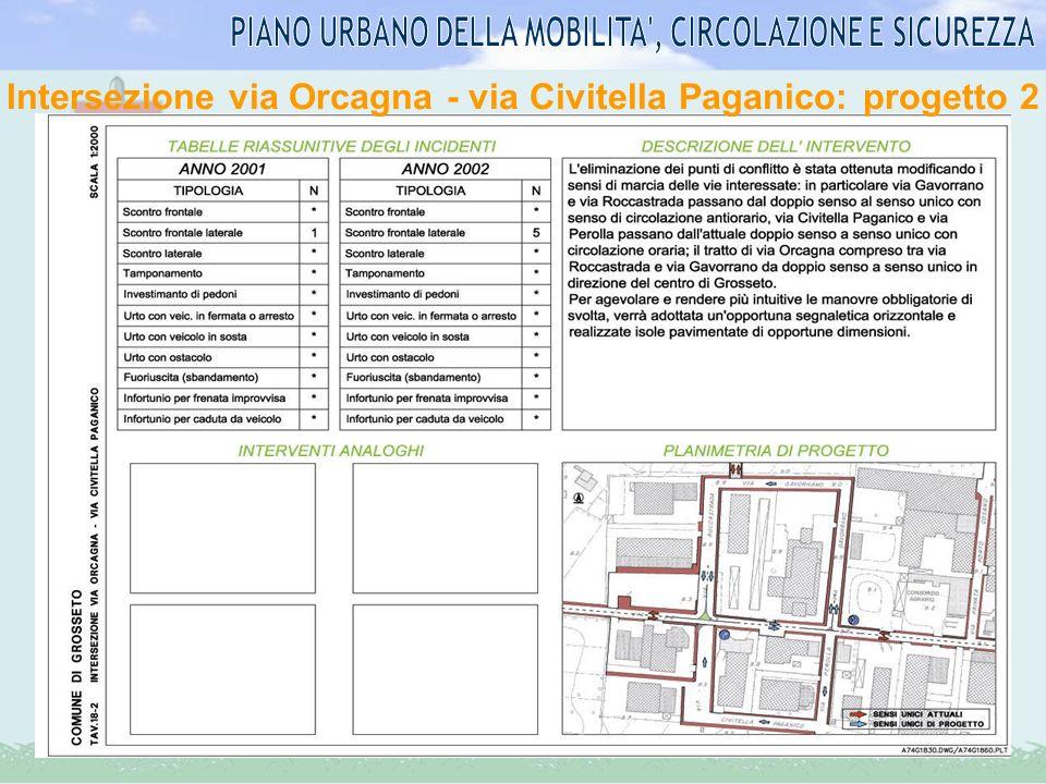 Intersezione via Orcagna - via Civitella Paganico: progetto 2