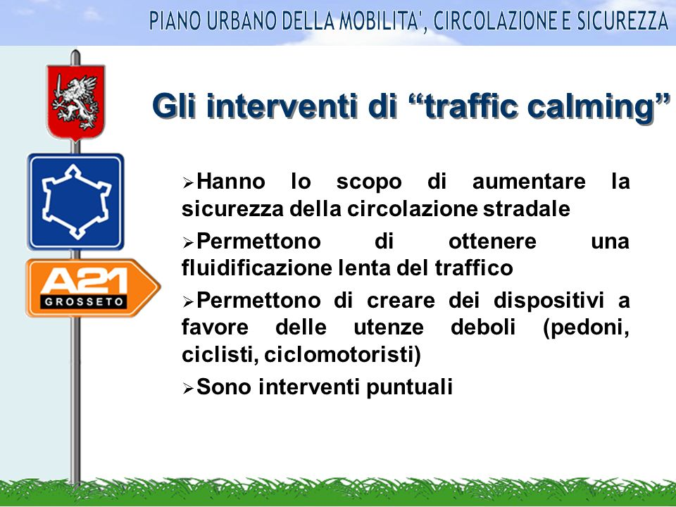 Gli interventi di traffic calming