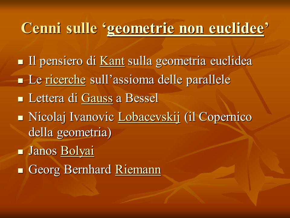 Cenni sulle 'geometrie non euclidee'