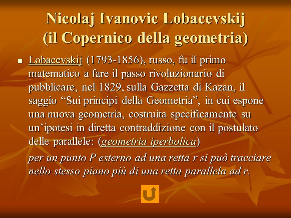 Nicolaj Ivanovic Lobacevskij (il Copernico della geometria)