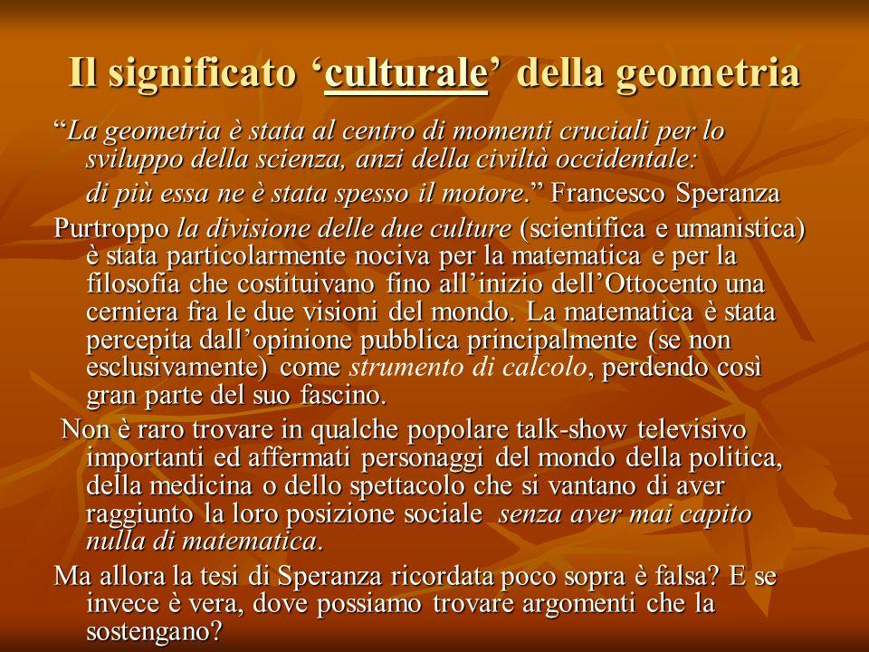 Il significato 'culturale' della geometria