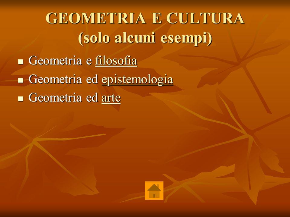 GEOMETRIA E CULTURA (solo alcuni esempi)