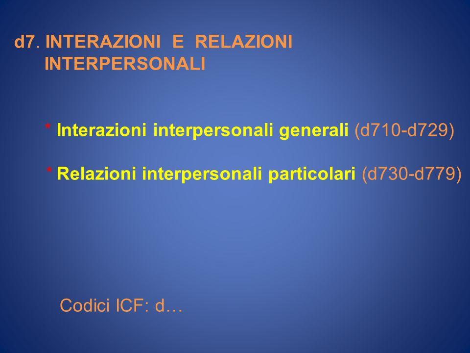 d7. INTERAZIONI E RELAZIONI