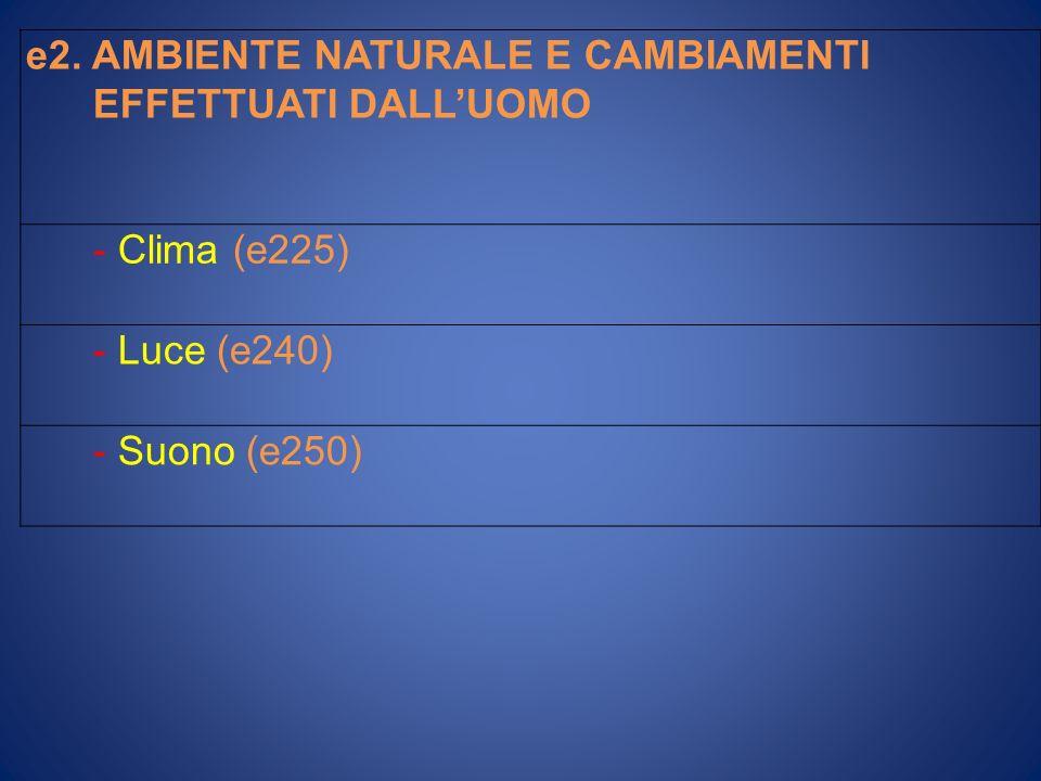e2. AMBIENTE NATURALE E CAMBIAMENTI
