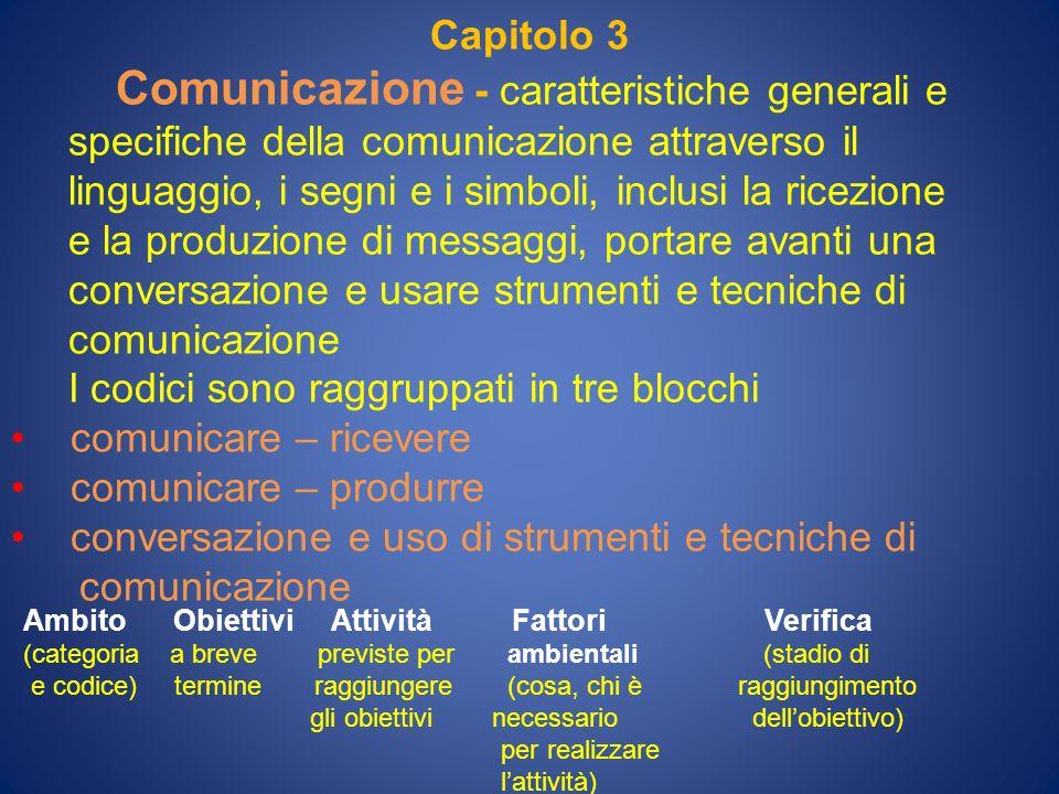 Comunicazione - caratteristiche generali e