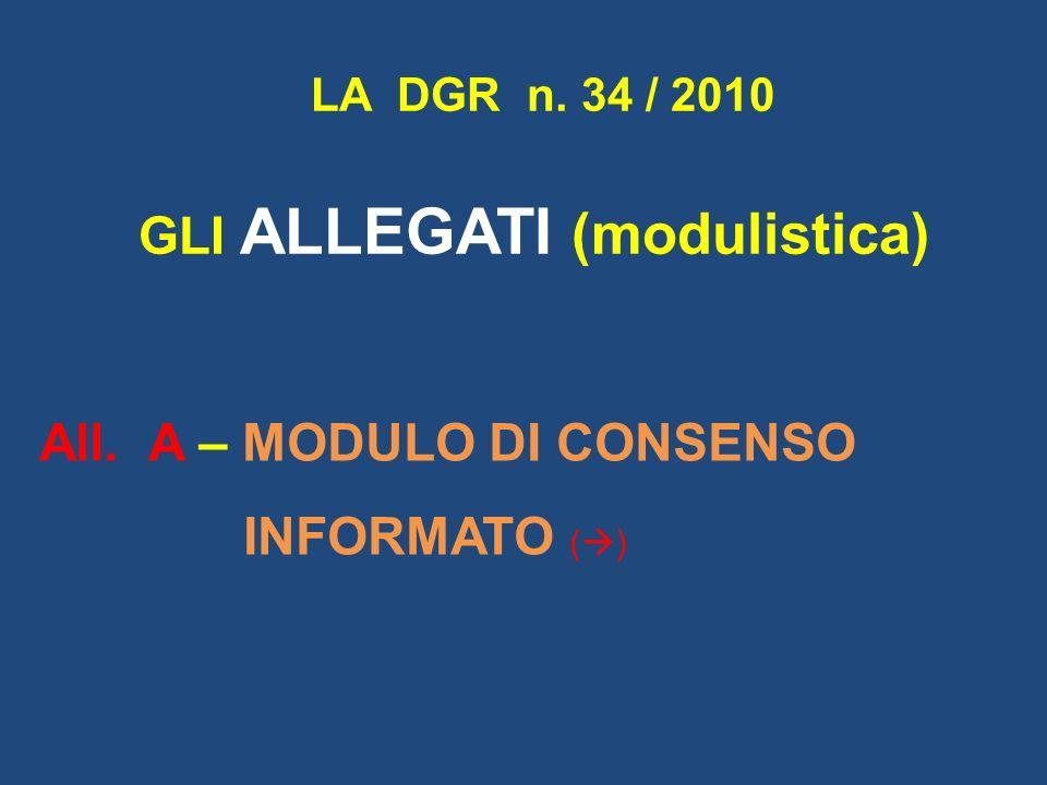 GLI ALLEGATI (modulistica)