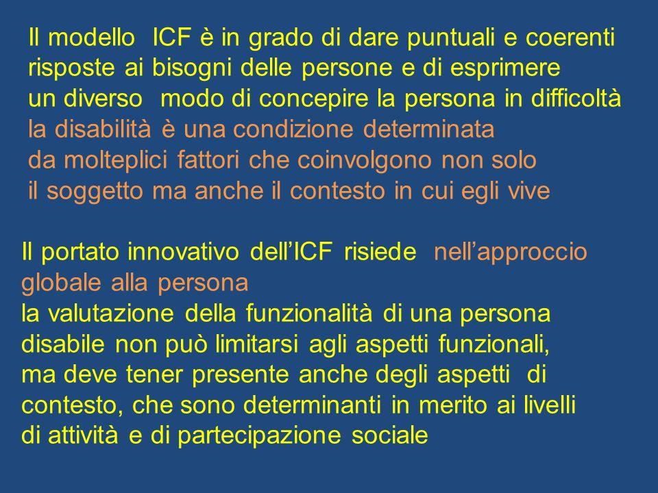 Il modello ICF è in grado di dare puntuali e coerenti