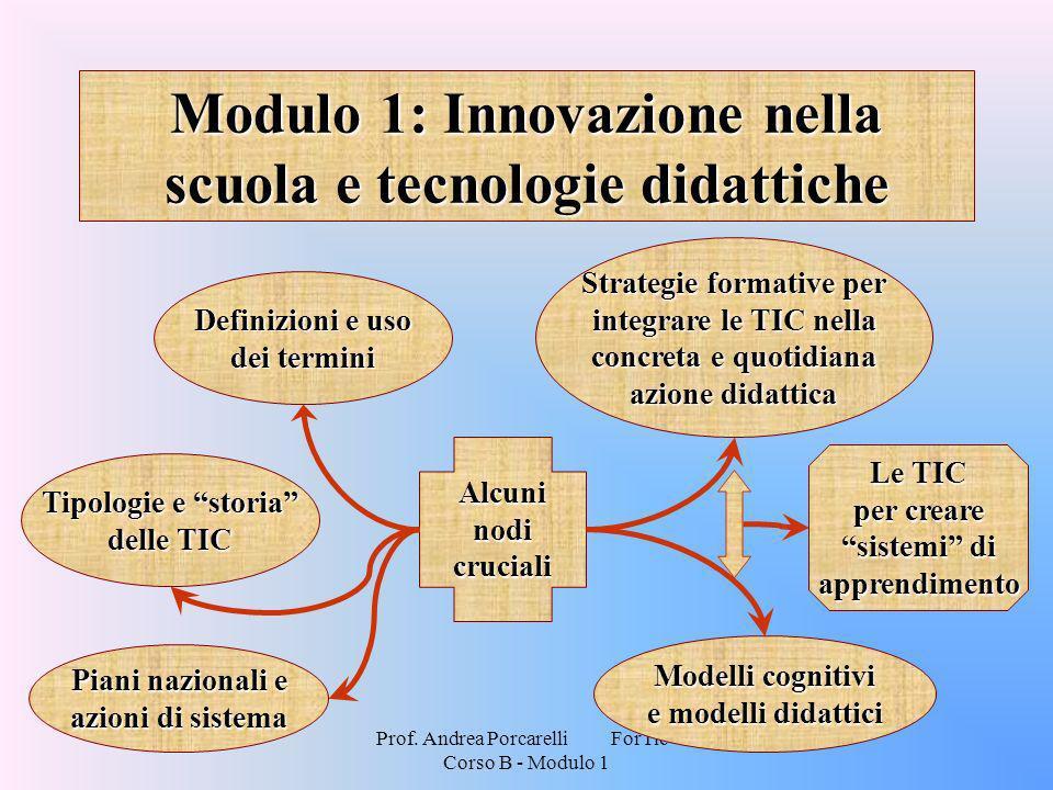 Modulo 1: Innovazione nella scuola e tecnologie didattiche