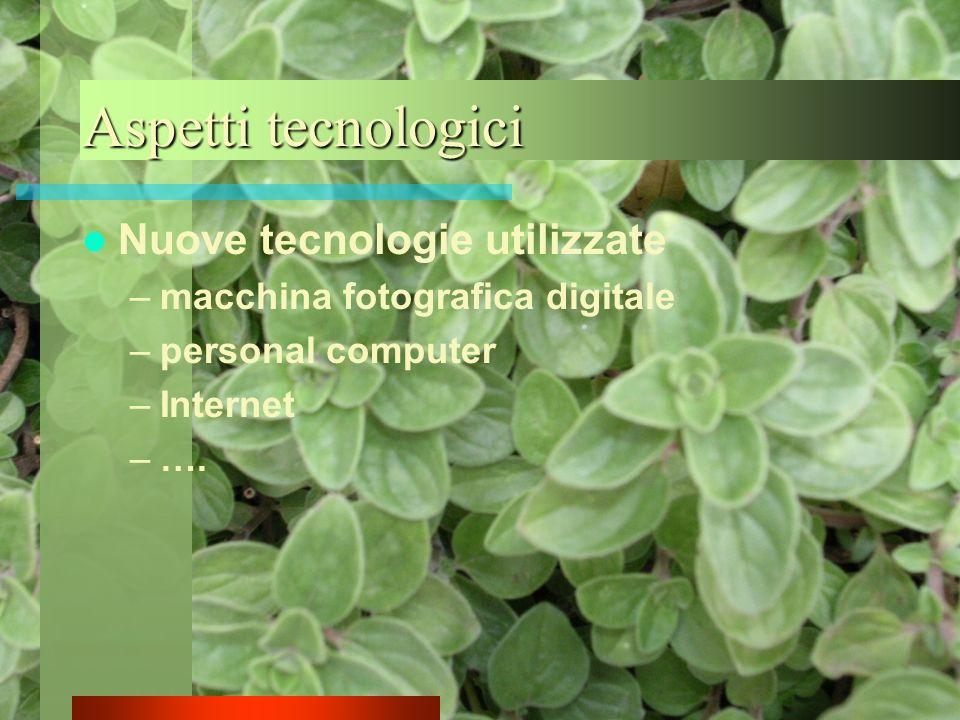 Aspetti tecnologici Nuove tecnologie utilizzate