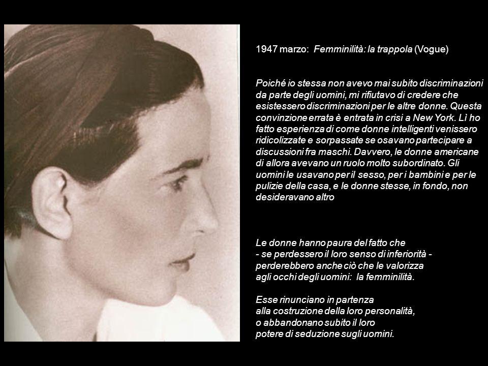 1947 marzo: Femminilità: la trappola (Vogue)