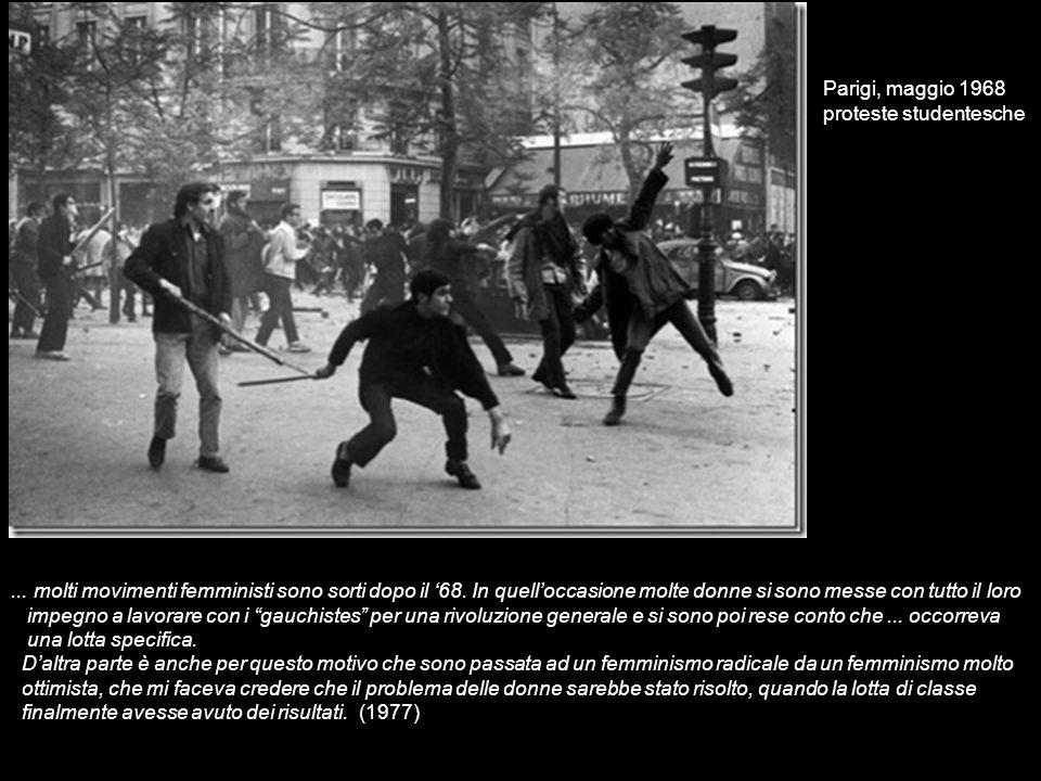 Parigi, maggio 1968 proteste studentesche.