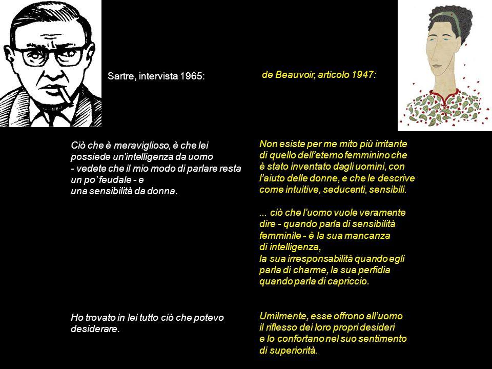 Sartre, intervista 1965: de Beauvoir, articolo 1947: