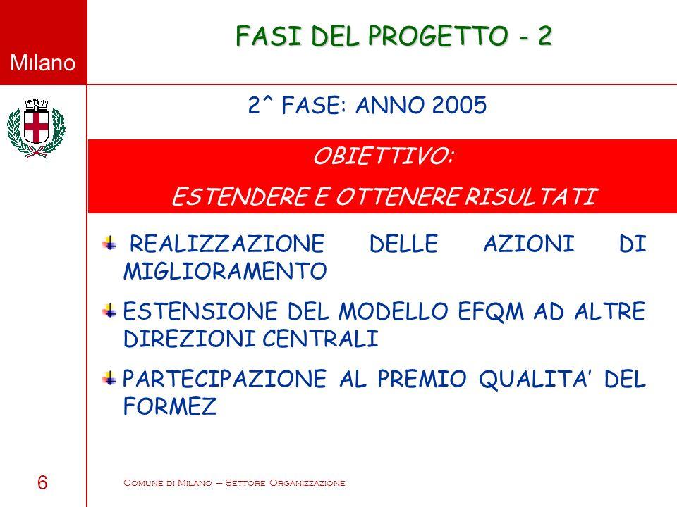 FASI DEL PROGETTO - 2 2^ FASE: ANNO 2005 OBIETTIVO: