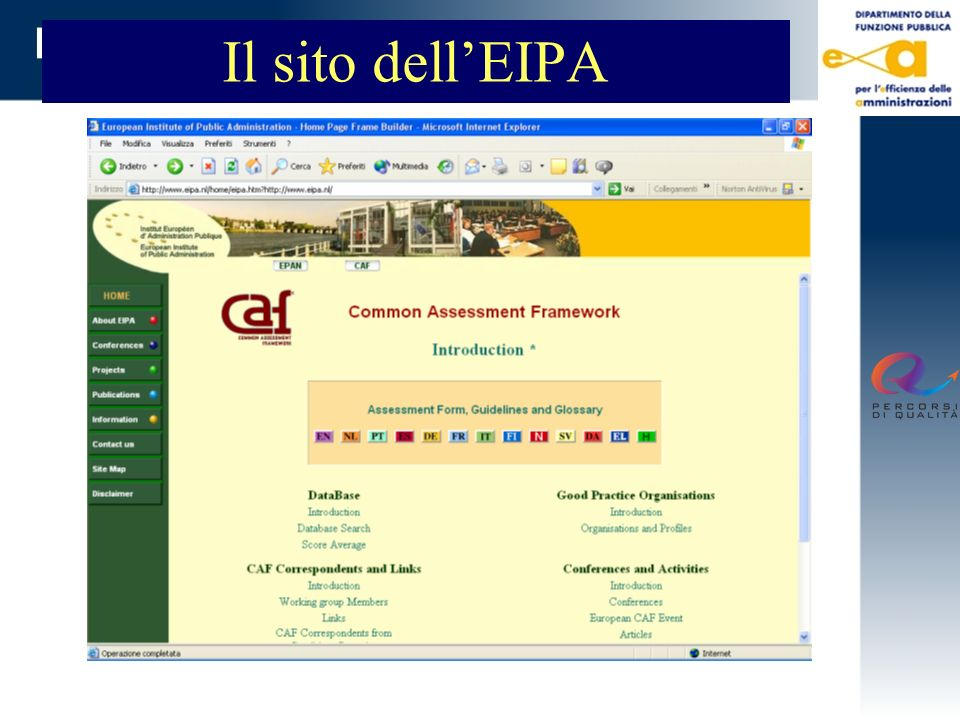 Il sito dell'EIPA