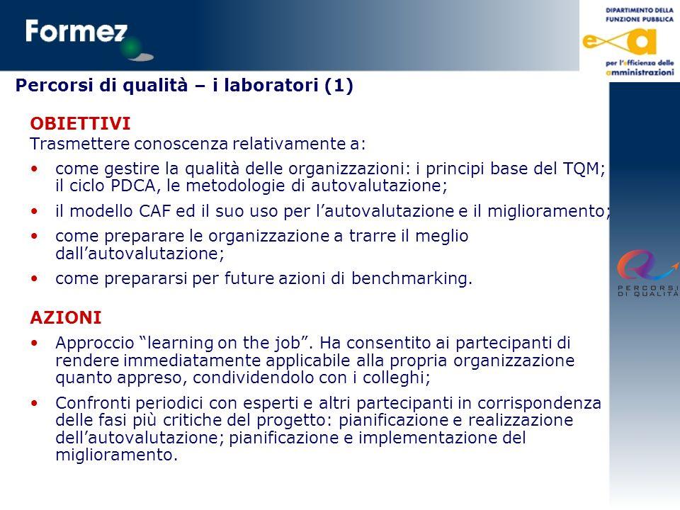 Percorsi di qualità – i laboratori (1)