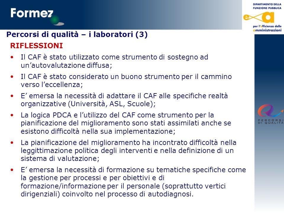 Percorsi di qualità – i laboratori (3)