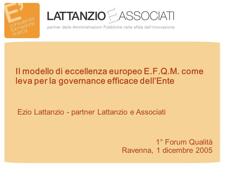 1° Forum Qualità Ravenna, 1 dicembre 2005