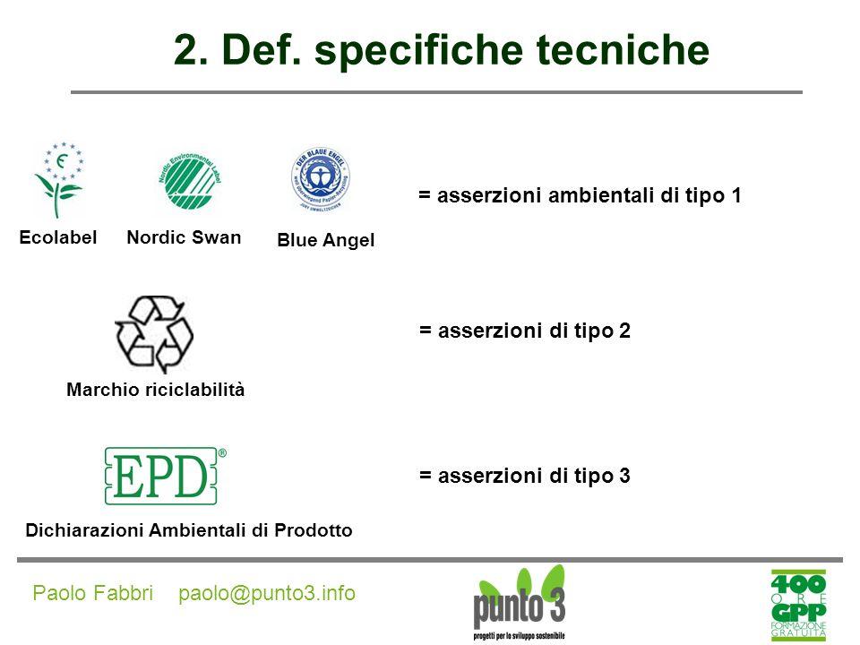 2. Def. specifiche tecniche