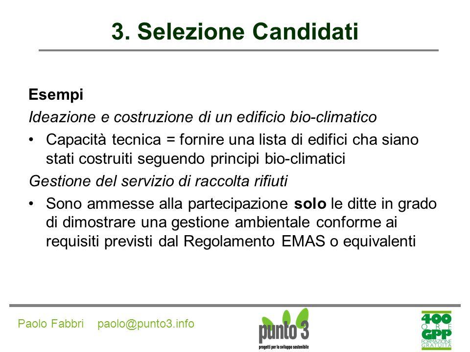 3. Selezione Candidati Esempi