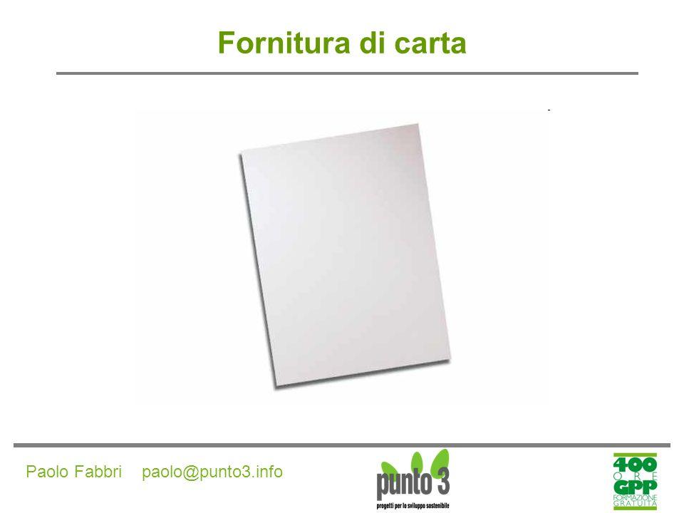 Fornitura di carta Paolo Fabbri paolo@punto3.info