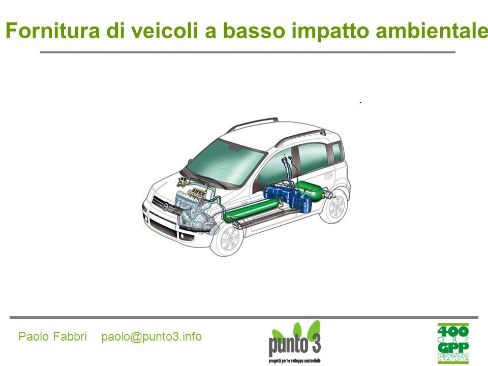 Fornitura di veicoli a basso impatto ambientale