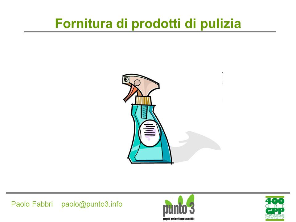 Fornitura di prodotti di pulizia