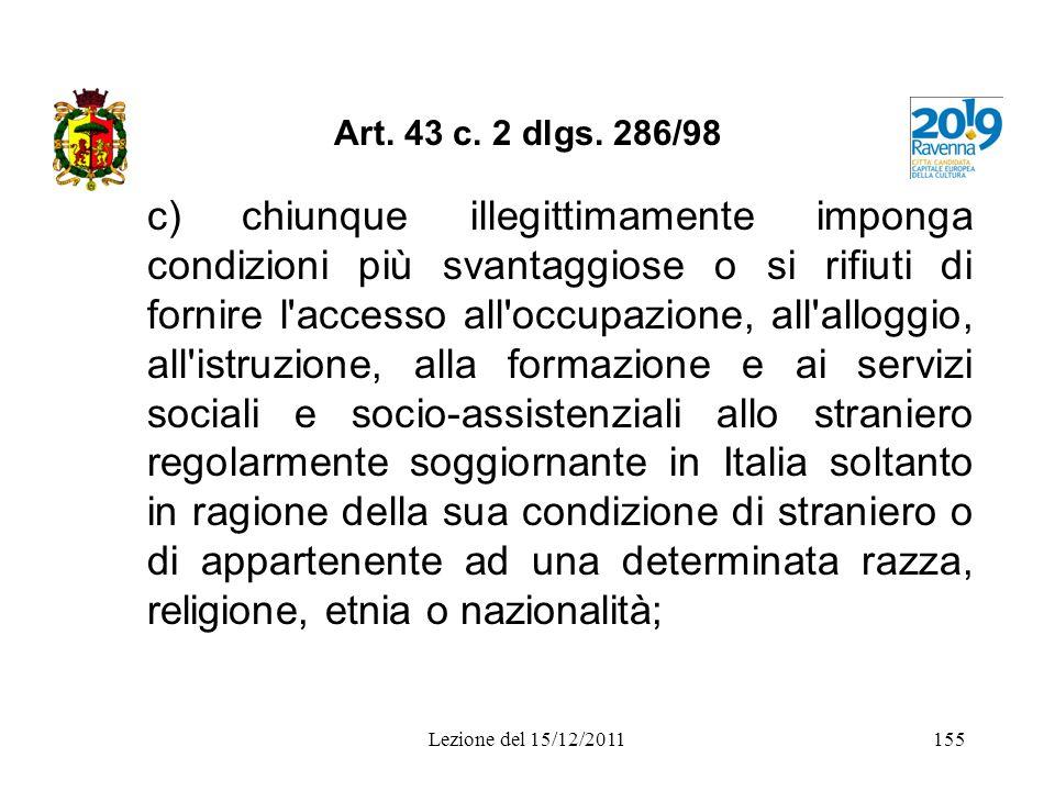 Art. 43 c. 2 dlgs. 286/98