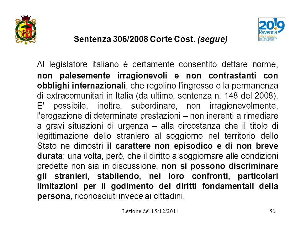 Sentenza 306/2008 Corte Cost. (segue)